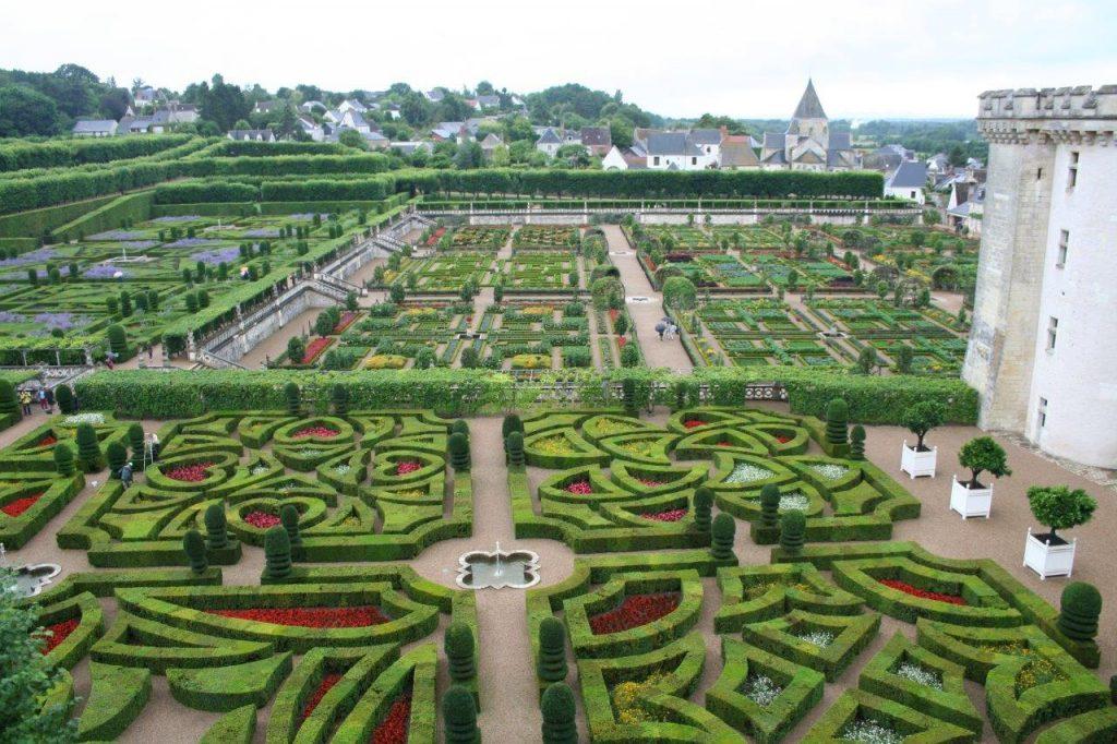 Le jardin et le château de Villandry