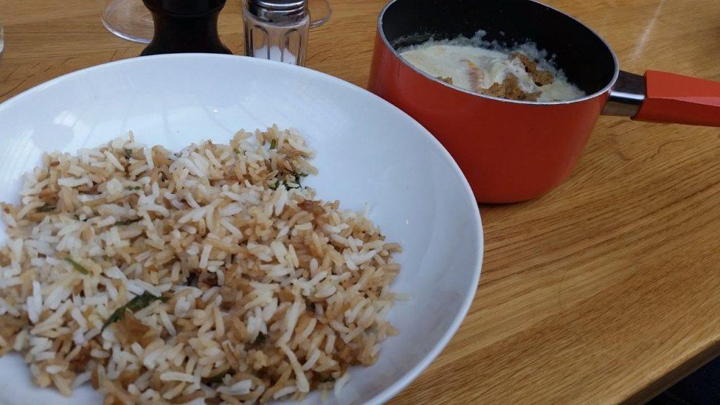 Blanquette de veau, riz sauté