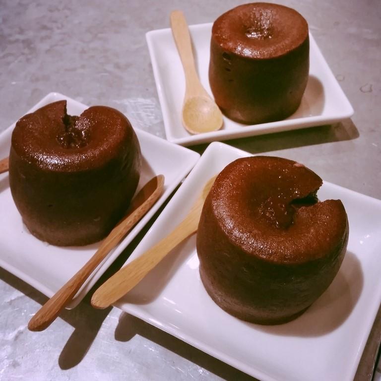 moelleux au chocolat de la pâtisserie Aoki