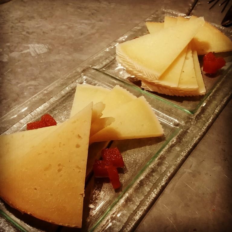 duo de quesos de manchego et sa pâte de coing