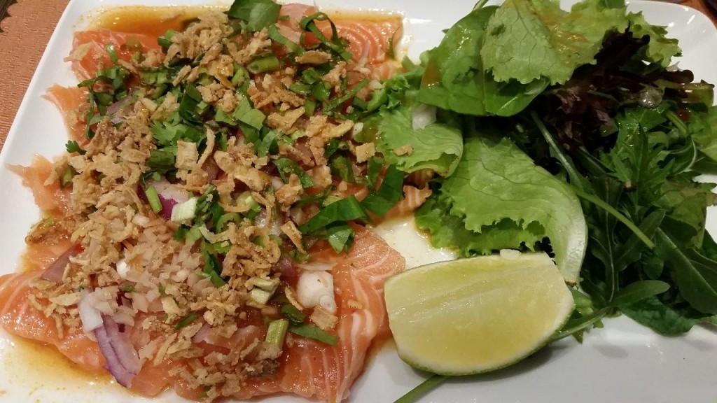 Carpaccio de saumon façon Thaï