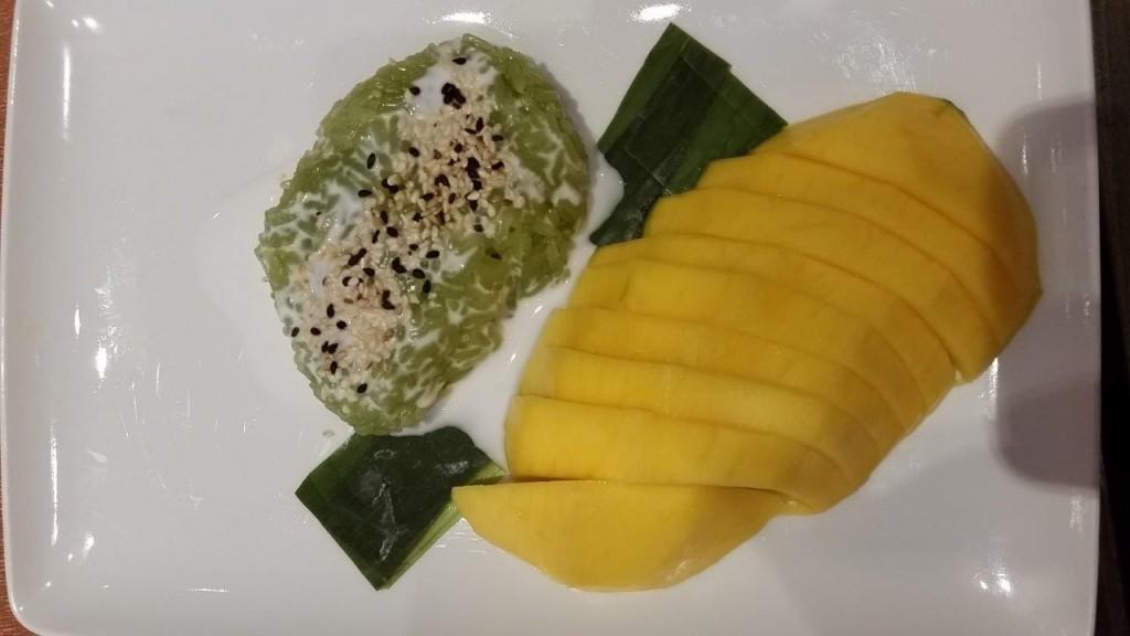 Riz au Lait de Coco à la mangue fraîche