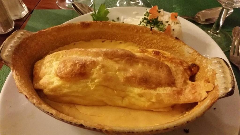 Le gratin de quenelles sauce homardine
