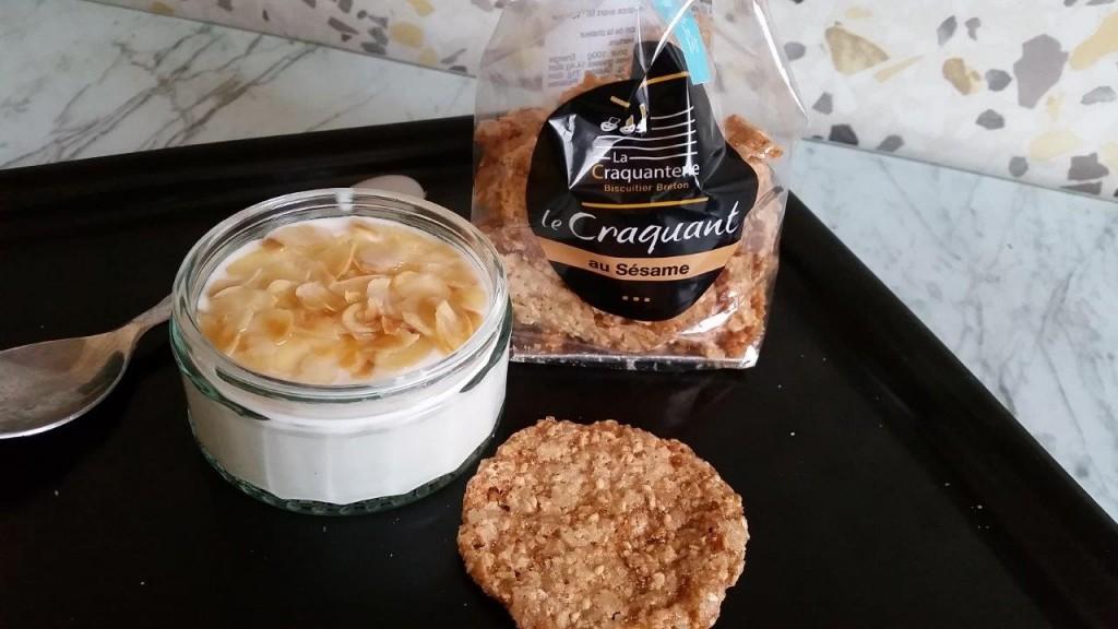 Craquants avec le yaourt au miel