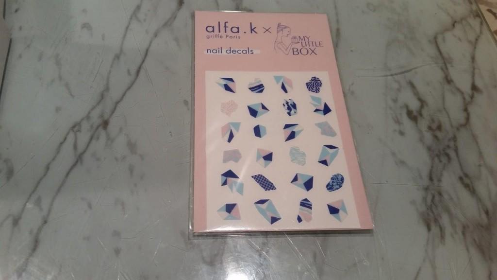 Planche de stickers pour ongles Alfa-K