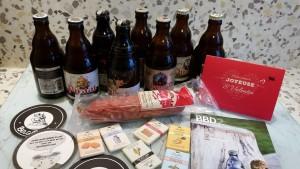 Contenu de la Beerbox belge