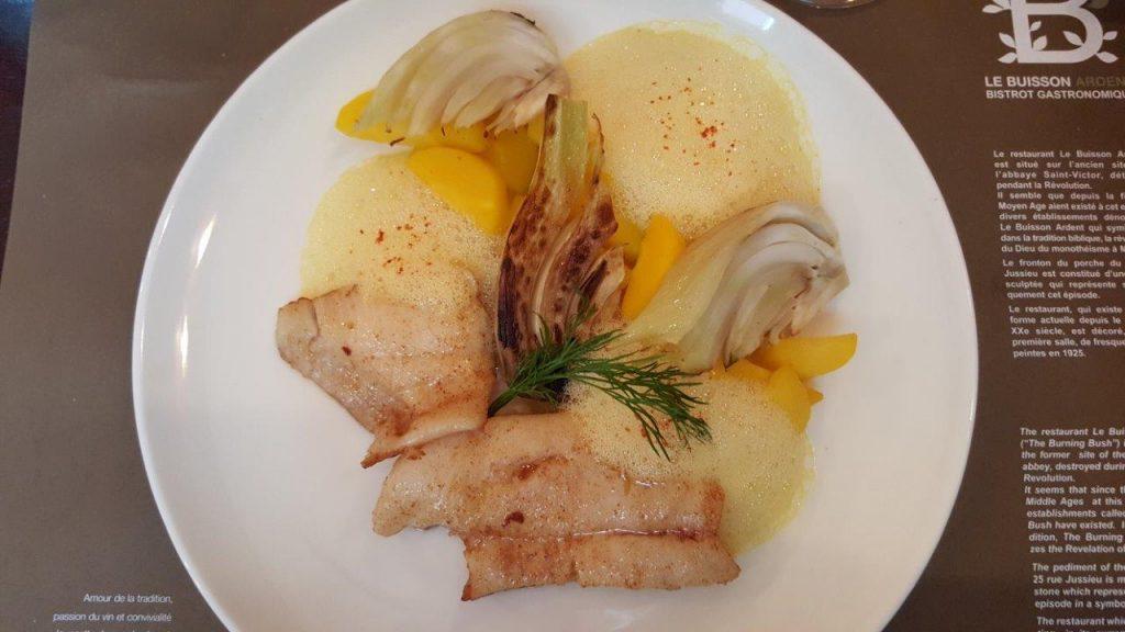 Filet de flétan aux carottes et fenouils