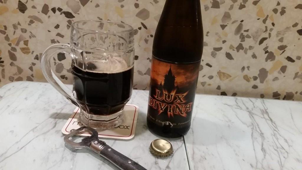 Dégustation de la bière Lux Divina