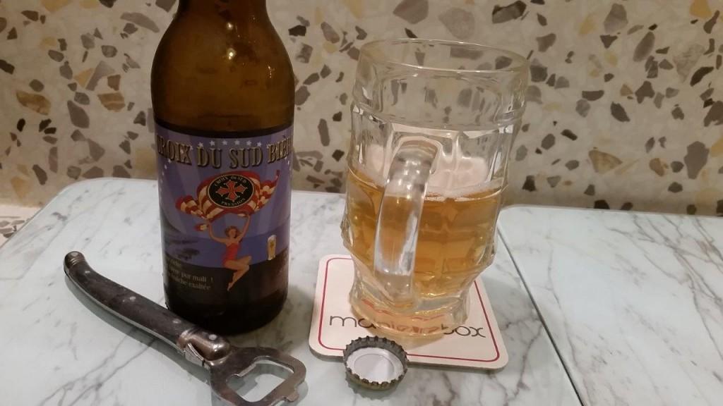 Dégustation de la bière La croix du Sud