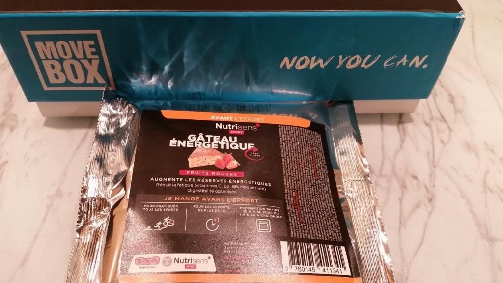 Le gâteau énergétique fruits rouge NUTRISEN,