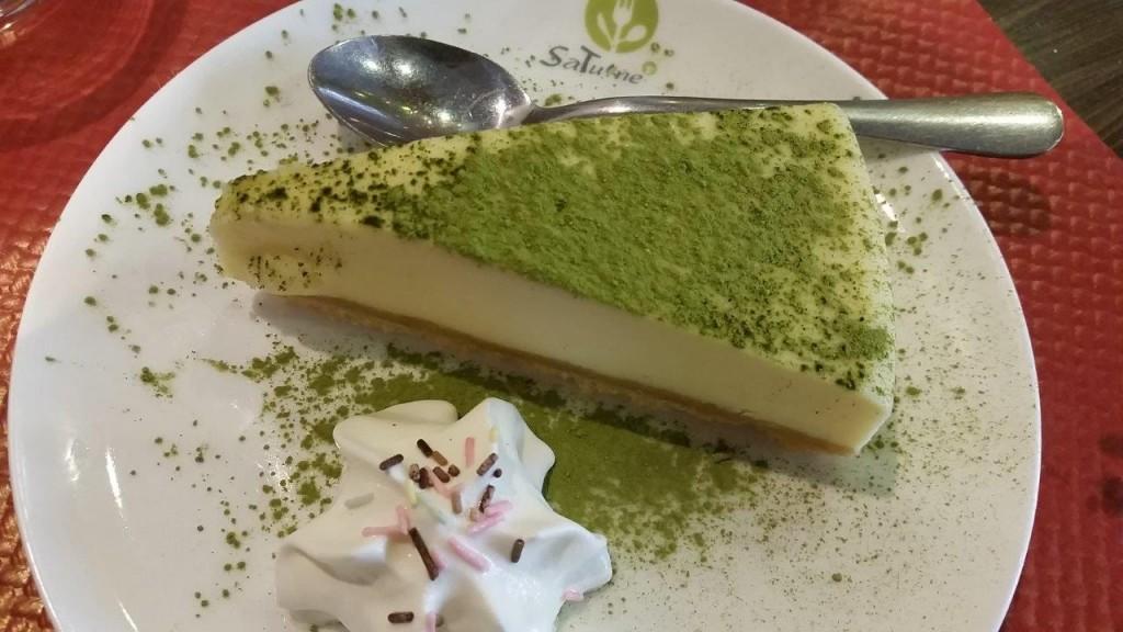 Cheese cake au thé vert