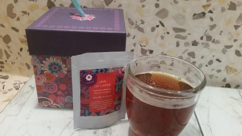 Dégustation du thé noir d'origine Java OP Ciater de la plantation Malabar