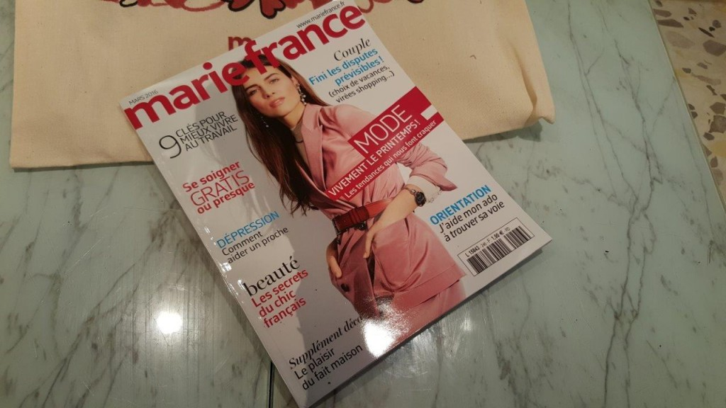 magazine Marie France du mois