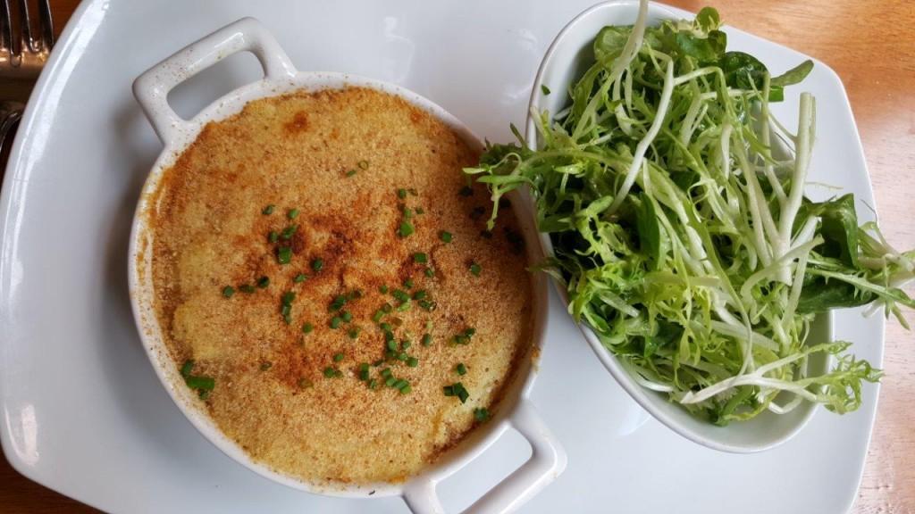 Brandade de cabillaud sauvage, salade mélangée