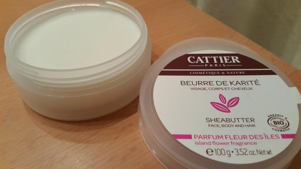 Test du beurre de karité visage, corps et cheveux Bio Cattier