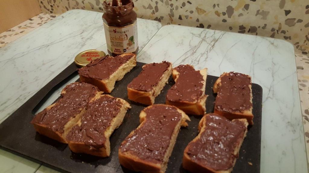 Dégustation de la pâte à tartiner Nocciolata Rigoni di Asiago