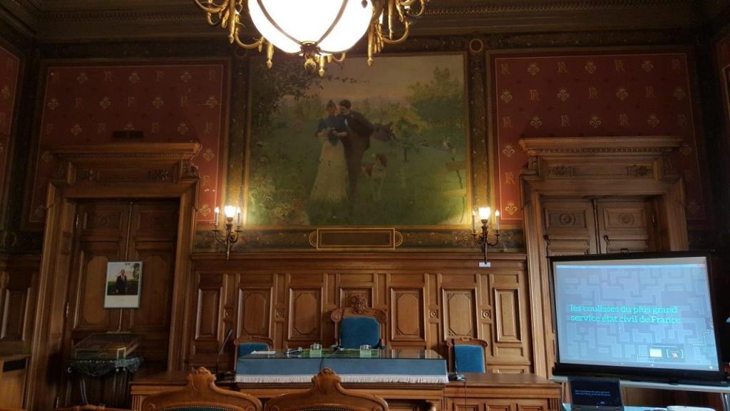 Salle de mariage de la Mairie du XIVème