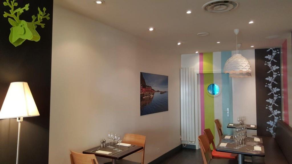 Intérieur du restaurant Autour du Saumon