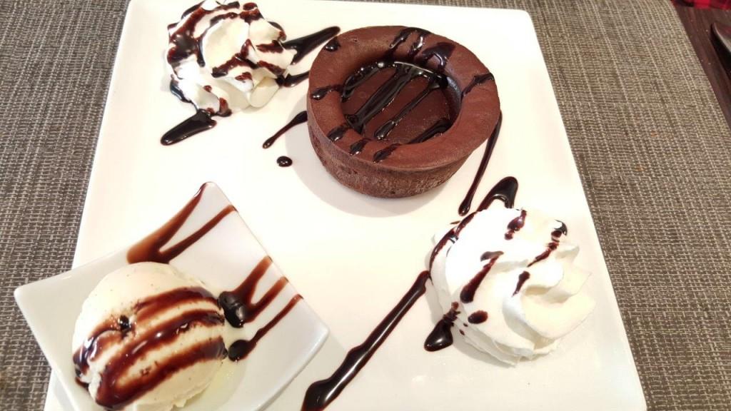 Fondant au chocolat, glace vanille