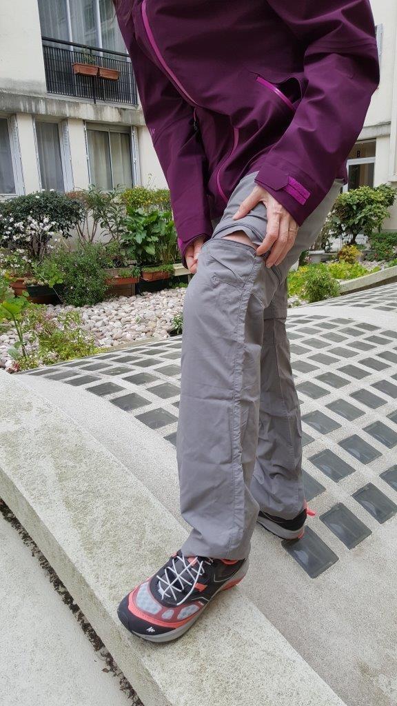 Pantalon modulable forclaz 100 Quechua gris