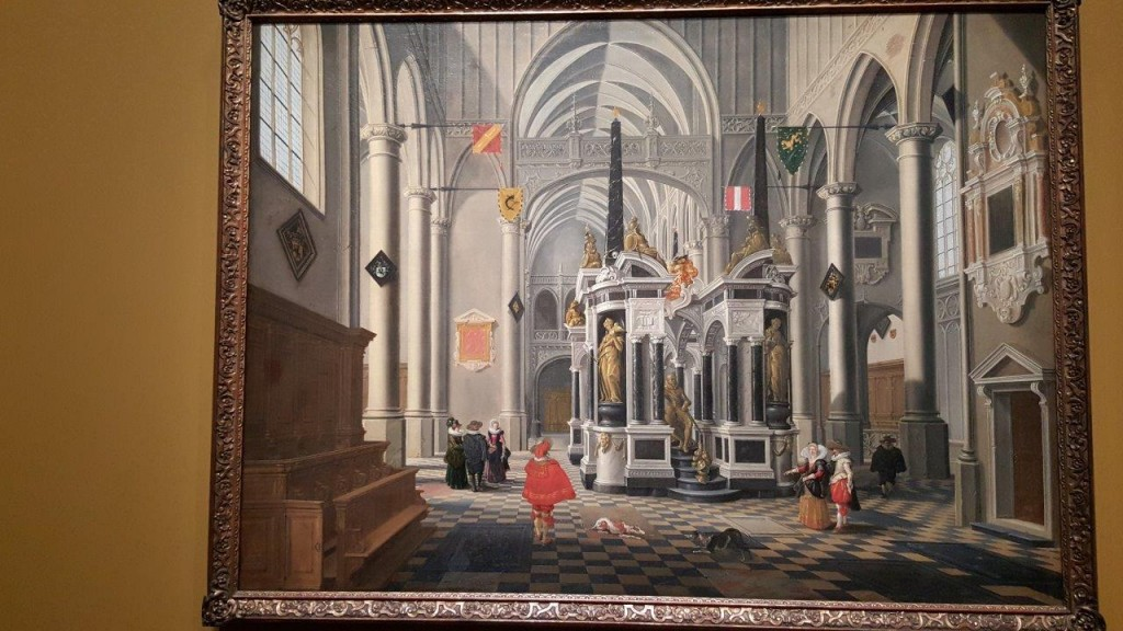 Bartolomeus Van Bassen Le tombeau de Guillaume le taciturne dans une église imaginaire