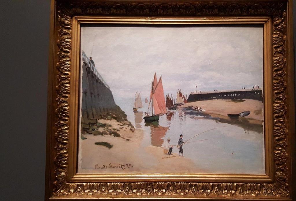 Claude Monet L'estacade de Trouville, maréee basse