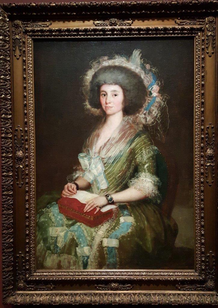 Francisco de Goya Portrait de Manuela y de la Heras
