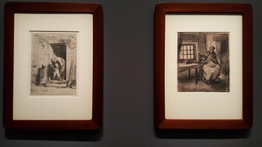 JF Millet Précaution maternelle - Vincent Van Gogh Femme tricotant à la fenêtre