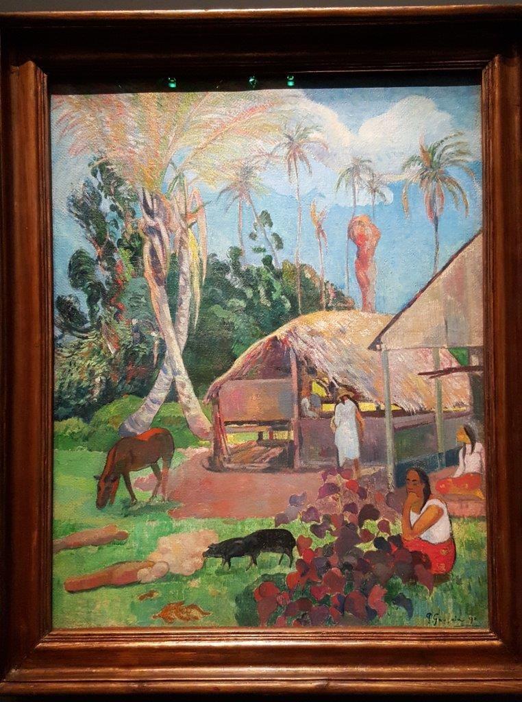 Paul Gauguin Les cochons noirs