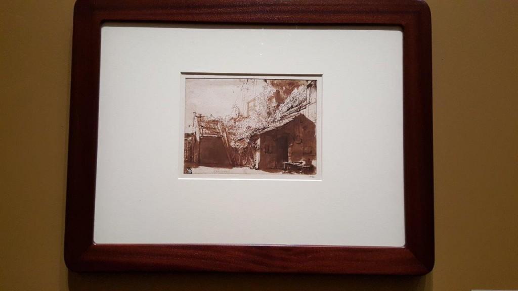Rembrandt Van Rijn Maison paysanne hollandaise dans le clair obscur