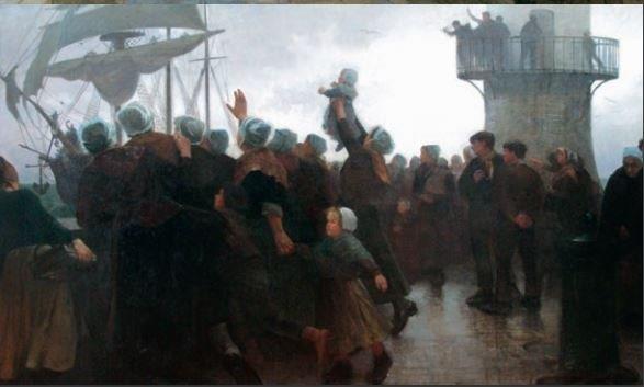 Retour d'Islande Albert Guillaume Demarest (1848-1906) Collections Musée Baron Martin, Gray © Musée Baron Martin, Gray