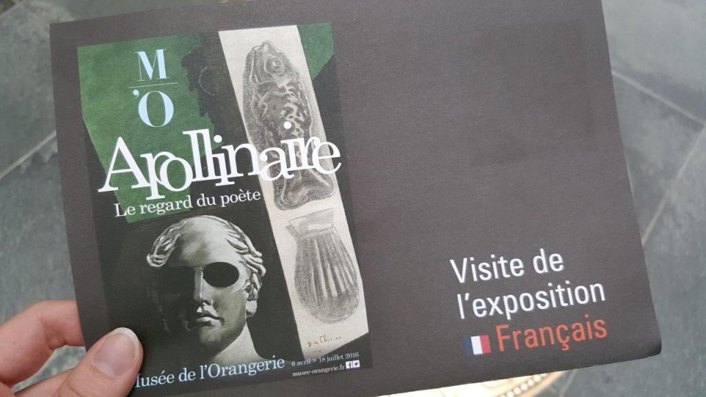 Guide de l'exposition Apollinaire, le regard du poète