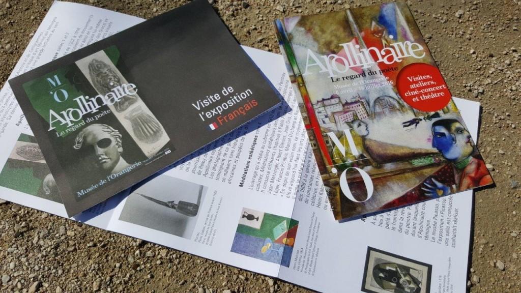 Guides de l'exposition Apollinaire, le regard du poète