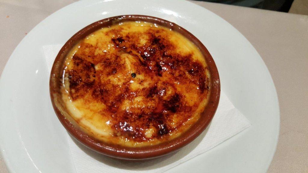 Crème catalane brûlée au fer