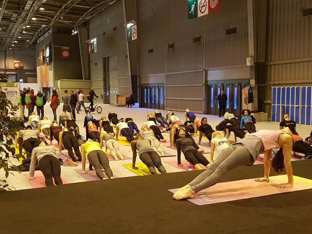 Séance de yoga