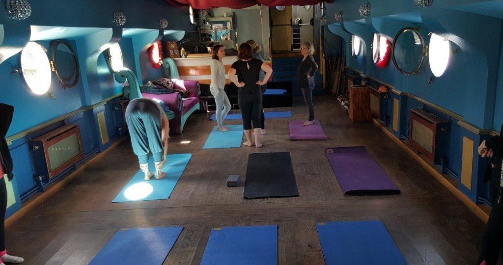 Installation du cours de yoga