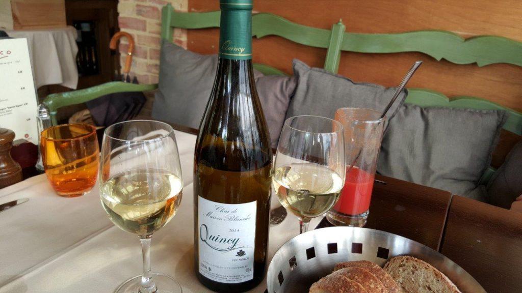 vin blanc Quincy AOC