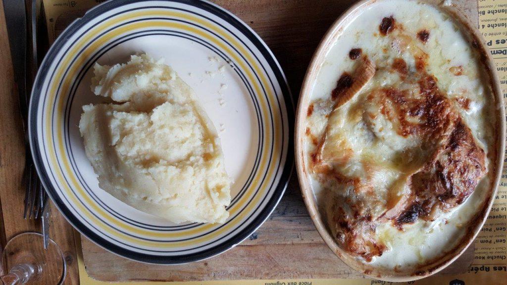 Poulet aux Maroilles : grosse Cuisse de port cuisinée et gratinée au Maroilles