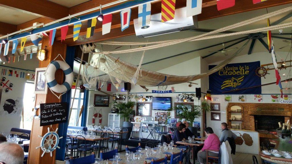 Intérieur du restaurant Le grand large
