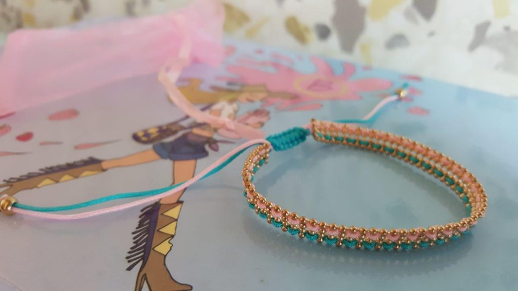 "bracelet ""The Pink and the Blue"""