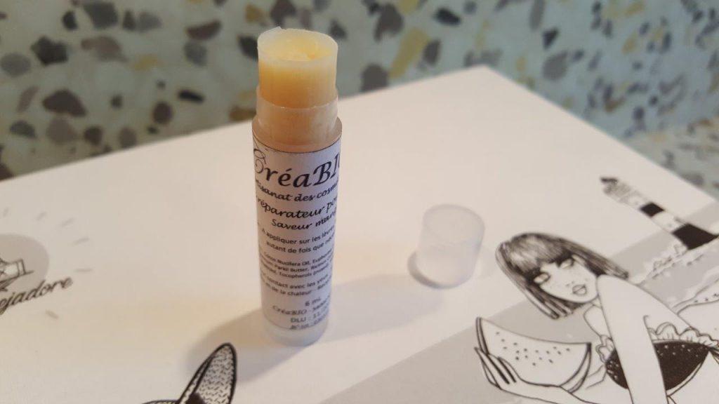 stick réparateur pour les lèvres à la mangue de Créabio