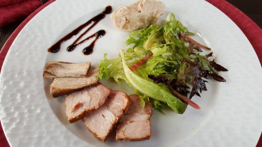 Salade de charcuterie Tourangelle (rillons et rillettes)