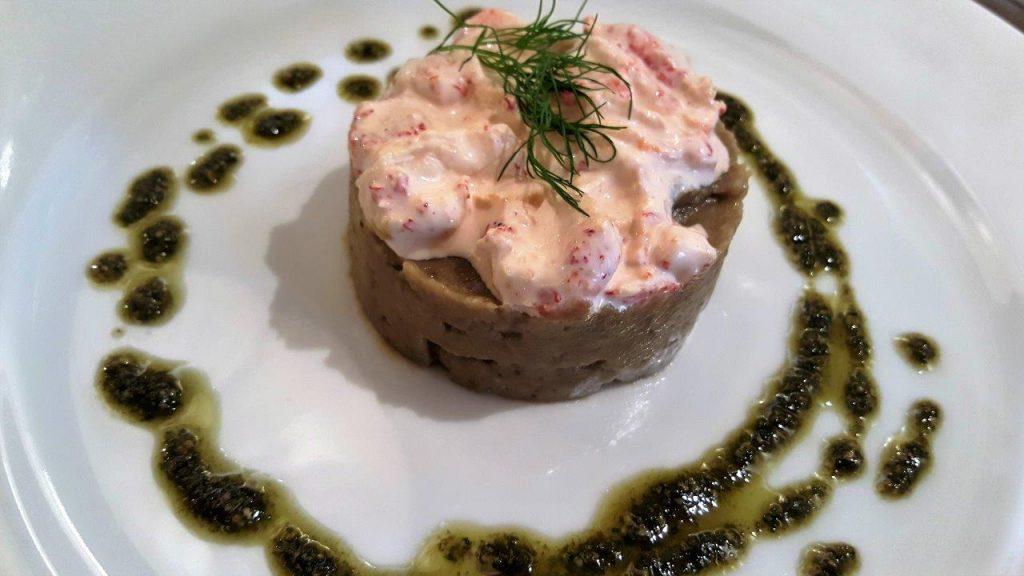 Caviar d'aubergines aux écrevisses