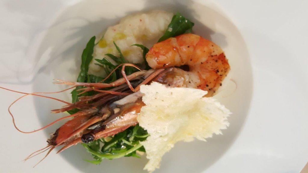 Risotto de Gambas, Tuile de Parmesan & Roquette (menu enfant)