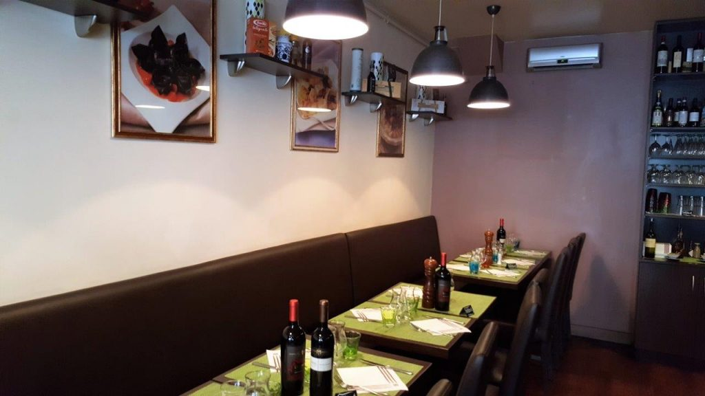 Intérieur du restaurant Giallo Oro