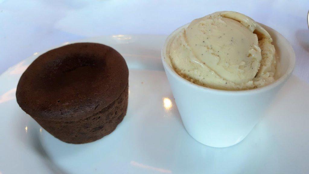 Moelleux au chocolat, glace vanille