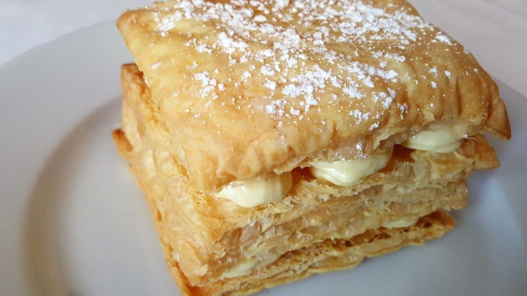 "Millefeuille traditionnel ""fait minute"" à la vanille Bourbon"