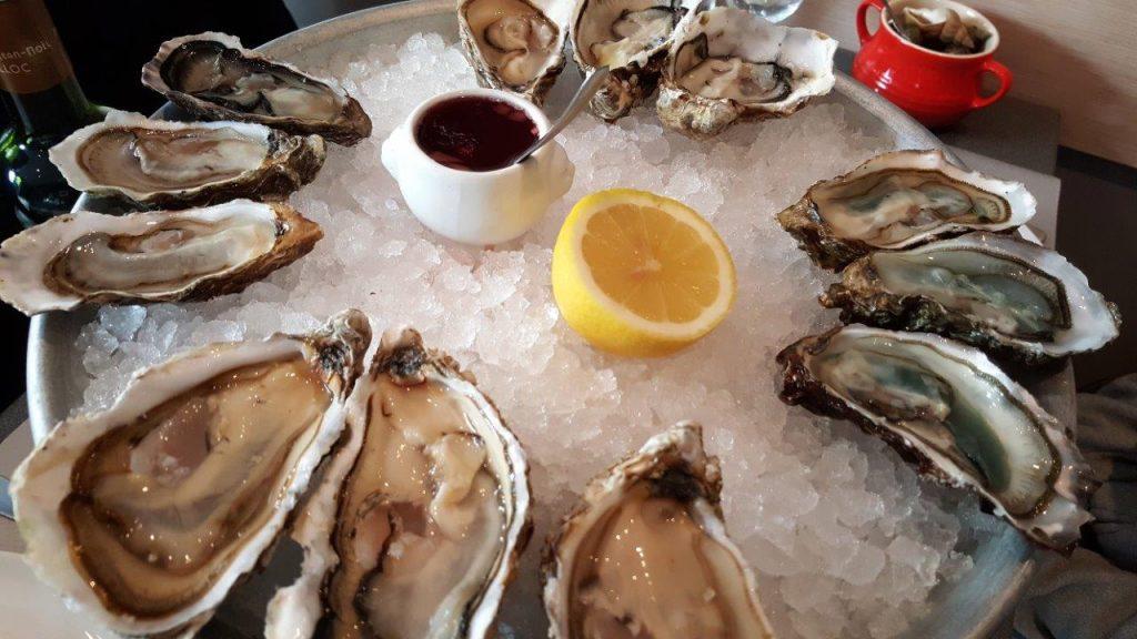 plateau de dégustation d'huîtres